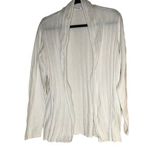 Plus size white Rickis open front ribbed cardigan